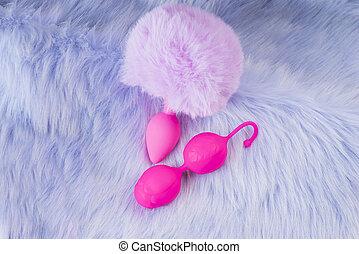 violeta, plug., background.vaginal, sexo, rosa, colección, ...