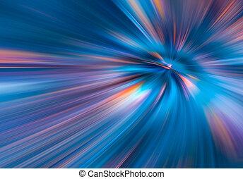 violeta, raios, fibras, 3d, coloridos, azul, grande, abstratos, ilustração, dados, túnel, color., velocidade, fundo