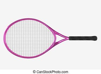 violeta, raquete tênis