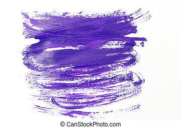 violeta ultra, cor, pintura, smear., vista superior