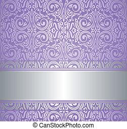 violeta, y, plata, lujo, papel pintado