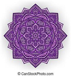 violett, bakgrund, blommig, runda, prydnad, vit