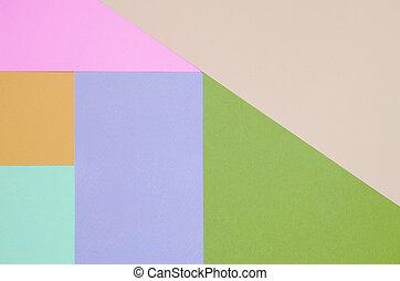 violett, beschaffenheit, colors., orange, pastell, grün, hintergrund, blaues, geometrisch, rosa, muster, papiere, beige, mode
