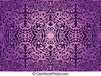violett, elegant, seamless, mönster