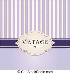 violett, illustration., årgång, vektor, lyxvara, frame., etikett, stil