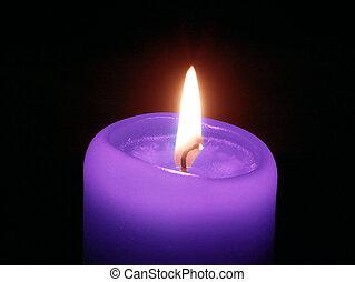 violett, kerze