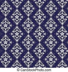 violett, och, vit, seamless, mönster