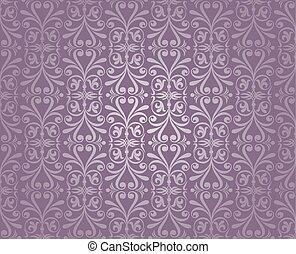 violett, silver, tapet, lyxvara, årgång