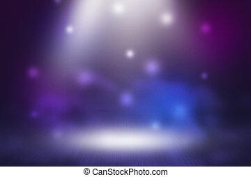 violett, spotlight, bakgrund, arrangera