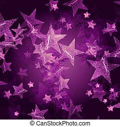 violett, stjärnor