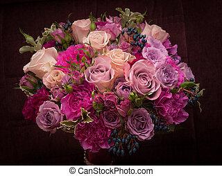 violette, 花束, パレット, 結婚式