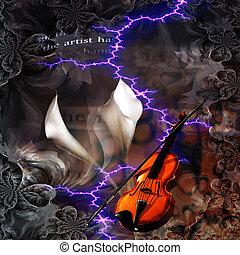 Violin Abstract