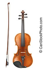 violin and a bow vector