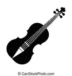 Violin black simple icon