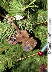 Violin Christmas Tree Ornament