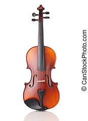 Violin - Close up of a violin on white background