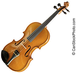 Violin cutout - Violin isolated with clipping path