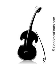 Violin - Black and White Series: Violin with Clipping Path