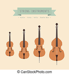 violin family - Musical Instrument String, Violin, Viola,...