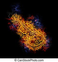 violin., fiery