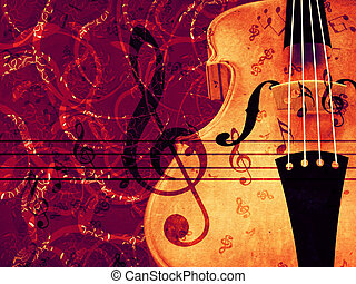 Violin floral background