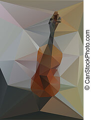 Violin geometry of triangles on a gray background