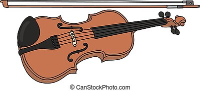 Violin - Hand drawing of a classic violin