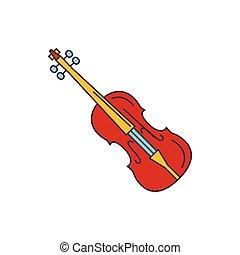 Violin icon, cartoon style