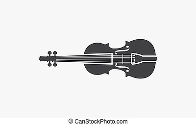 violin icon. vector illustration. isolated on white background.