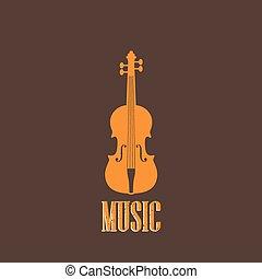 violin, illustration