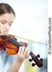 Violin in hands