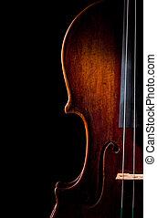 violin, instrument, kunst, snor, musik