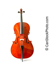 Violin isolate on white