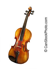 Violin, isolated