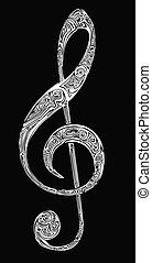Violin key background
