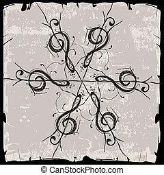 violin key rosette