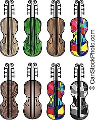 violin musical colored instrument