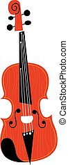 Violin Musical Instrument - Vector Illustration of a Violin...