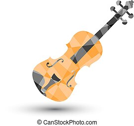 Violin on a white background, vector illustration