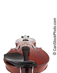 Violin on a white with copy space