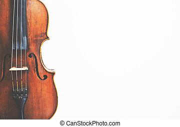 Violin on background with copyspace