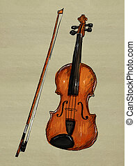 Violin Painting Image