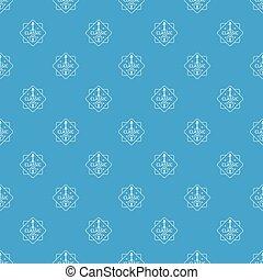 Violin pattern vector seamless blue