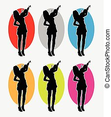 Violin player logo