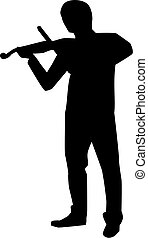 Violin player silhouette
