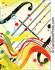 Violin Poster - Violin closeup set on a jazz grunge...