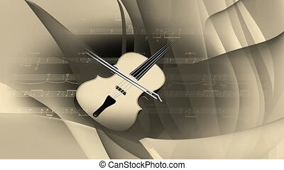 Violin rotating background