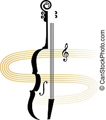 Violin silhouette for a concert or lessons announcement