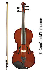 Violin - Sliced photographies different music instrument