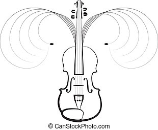 Violin symbol of classical music concerts